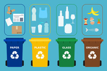 Different Colored Recycle Bins...