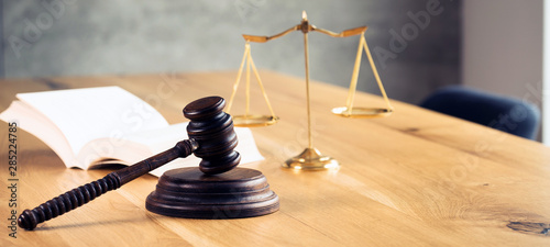 Fotografia Law and Justice Concept Image, Grey stone background