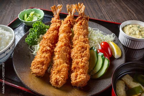 Obraz na plátně エビフライ定食
