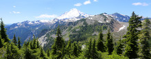Mt. Baker At Artist Point - Panorama