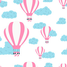 Seamless Pattern With Hot Air ...