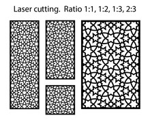 Jali Laser Pattern. Set Of Dec...