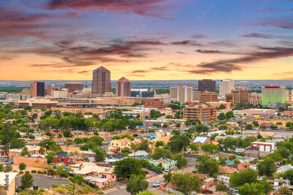 Fototapety, obrazy: Albuquerque, New Mexico, USA Cityscape