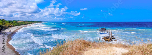 Abruzzi beach panoramic of Punta Aderci Natural Reserve in Vasto - Abruzzo - Ita Wallpaper Mural