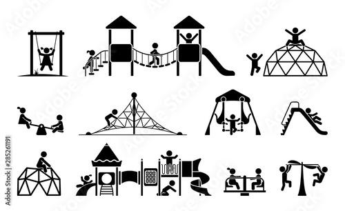 Photo Children play on playground