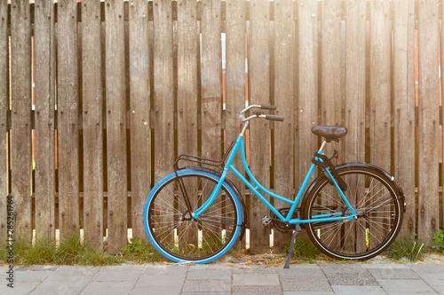 Türaufkleber Fahrrad Vintage bicycle on the street, Holland, Europe