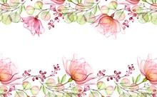 Transparent Watercolor Rose. H...