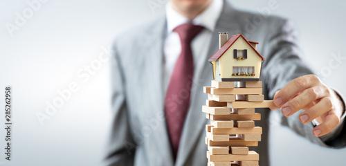 Fototapeta Instability In Real Estate Market obraz