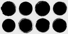 Set Of Black Round Banners - B...