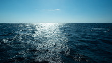 Horizontal And Sea Water Surfa...