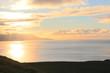 canvas print picture - Traumhafter Sonnenuntergang an der Küste Islands