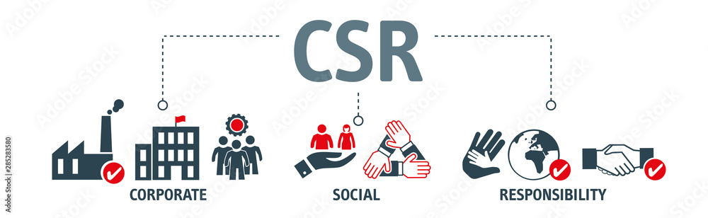 Banner CSR Vector Illustration concept
