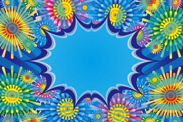 Fototapeta na wymiar #Background #wallpaper #Vector #Illustration #design #free freesize effect line,concentration line,comic,speed line,speech bubble,balloon,cloud line カラフルベクターイラスト背景素材壁紙,吹き出し,花柄,漫画表現,メッセージスペース,宣伝広告ポスター