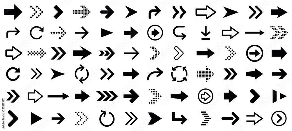 Fototapety, obrazy: Arrow icons set. Vector illustration