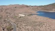 """Aerial view of the """"Las Niñas Dam"""" (East-West Direction downhill ) located in the municipality of Tejeda, south of the Canary Island of Gran Canaria (Spain, Europe)."""