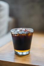 Ice Black Coffee And Honey