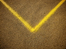 V Shaped Yellow Line On The As...