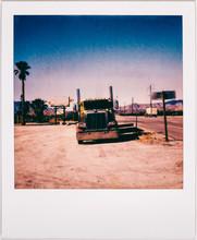 Cargo Truck In California Shot On Polaroid Film