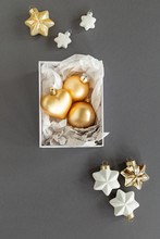 Golden Christmas Ornaments In ...