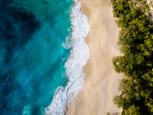 Aerial View Of Kelingking Beach
