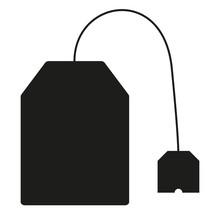 Black Tea Bag Icon Isolated On...