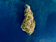 Aerial View Of A Small Island ...