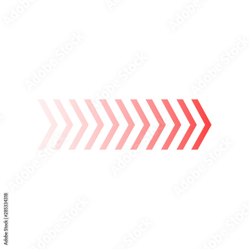 Fade chevron arrows right, vector illustration isolated on white background Canvas Print