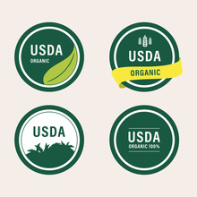 Usda Organic Certified Green Label Banner Guaranteed.