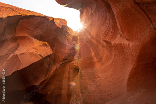 Fotobehang Rood paars Canyon in the Navajo territory called Upper Antelope in the town of Page, Arizona. United States