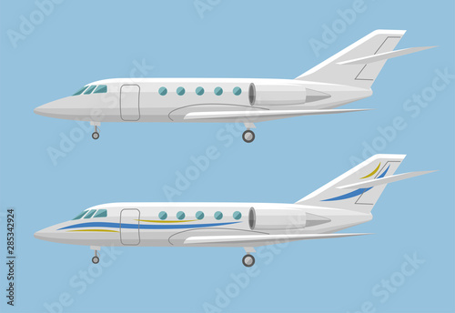 Cuadros en Lienzo Private jet vector icon. Business jet illustration