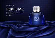 Perfume Bottle On Silk Folded ...