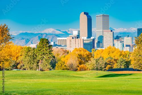 Scenic of Denver Colorado skyline Wallpaper Mural