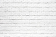 White Brick Wall May Used As Background