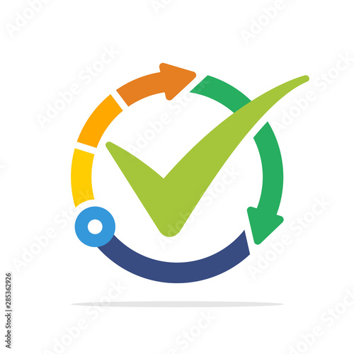 Photo Illustrated icon with the concept of the best technology management system