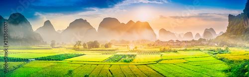 Landscape of Guilin. Located near Xingping, Yangshuo, Guilin, Guangxi, China.