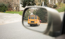 Bus Stop In The Side Mirror Of...