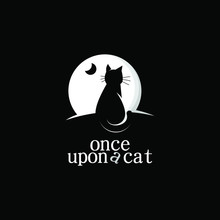 Cat Logo Simple Night Vision Night Animal Design Icon Idea