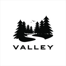 Valley Logo Vector With Black ...