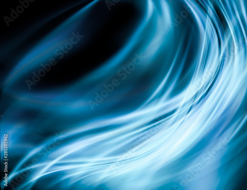 La pose en embrasure Abstract wave Abstract blue background, abstract lines twisting into beautiful bends
