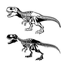 T Rex Dinosaurs Bones Negative...