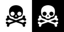 Skull Pirate Icon Crossbones V...