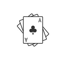 Playing Cards Icon. Vector Ill...