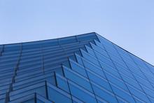 Low Angle Modern Blue Building Design