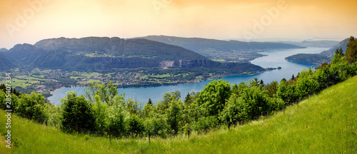 Photo view of lake of Annecy, french Alps
