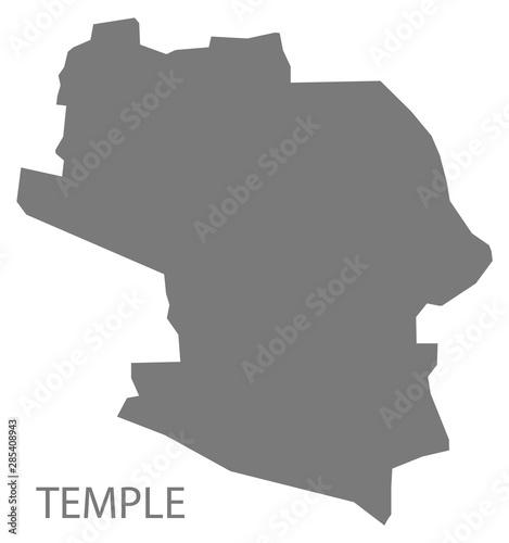 Obraz na plátně  Temple grey ward map of High Peak district in East Midlands England UK
