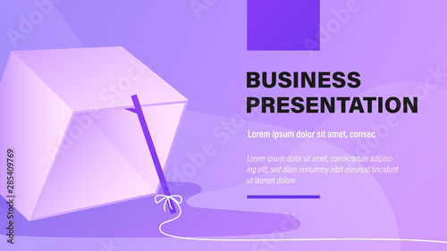Trap. Business Presentation Background with Illustration. Wallpaper Mural