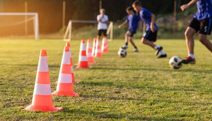 Football soccer training for boys