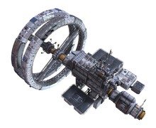 Future Space Station Isolated ...