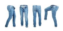 Blank Empty Jeans Pants Leftsi...
