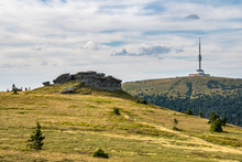 Peters Stones And Praded Hill With Transmitter - Jeseniky Hills